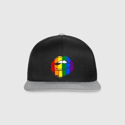 lèvres LGBT Gay Lesbienne Gay arc - Casquette snapback