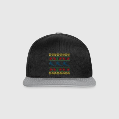 Skiing Ugly Christmas sweater Christmas - Snapback Cap