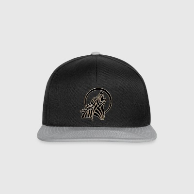 Wolf howling at the moon - Snapback Cap