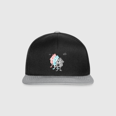 three crazy house with retro vintage chicken legs - Snapback Cap