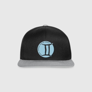 Zodiac sign Gemini (Gemini) with text - Snapback Cap