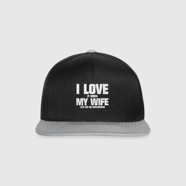 FUNNY LOVE MY WIFE AND BOULDER GIFT - Snapback Cap