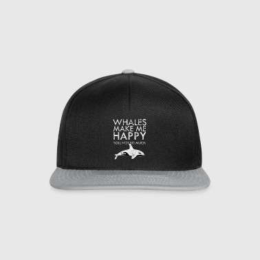 Whales joy fish underwater gift idea sea - Snapback Cap