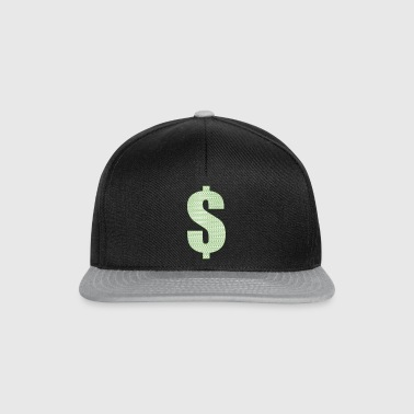 $ Money met dollar opbrengen - Snapback cap