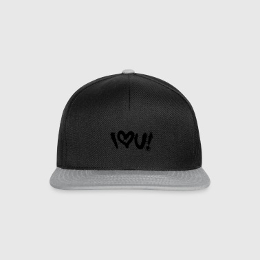 i love you graffiti sprayer streetart design logo - Snapback Cap