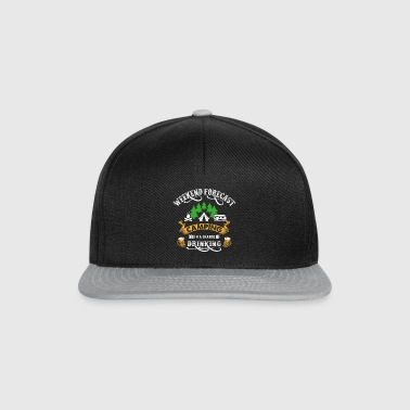 Weekend Camping Camper Drinking Tents Party - Snapback Cap