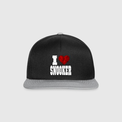 Snooker i love spruch heart love love - Snapback Cap