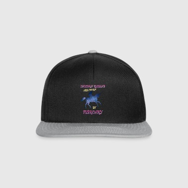 unicorn queens are born in february - Snapback Cap