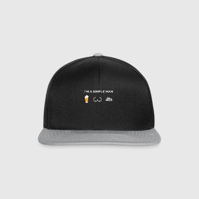simple man like boobs bier beer titten LKW truck - Snapback Cap