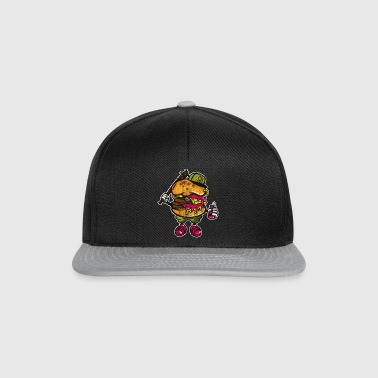 BURGER BASTARD - Comic Design shirt Cartoon Manga - Casquette snapback