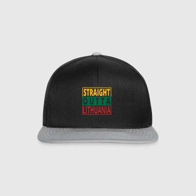 Straight outta Lithuania Lithuania - Snapback Cap