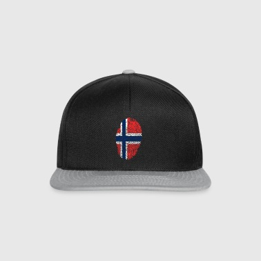 Fingerprint i love NORWAY norway denmark - Snapback Cap