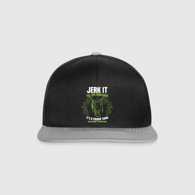 Jerk It Till She Swallows Fishing Thing Gift - Czapka typu snapback