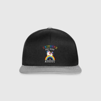Unicorns are born in August Funny Birthday Party - Snapback Cap