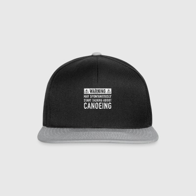 Note: Can Spontaneously Talk About Going Canoeing - Snapback Cap