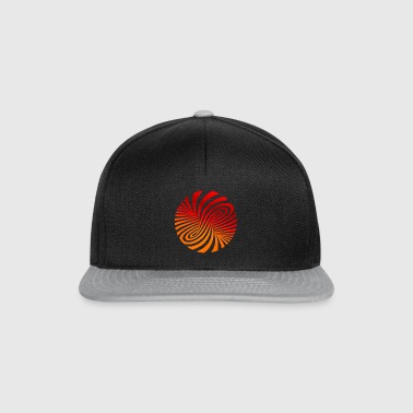 psychedelic circles lsd optical illusion column - Snapback Cap