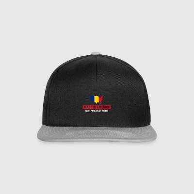 Made In America With Romanian Parts Romania Flag - Snapback Cap
