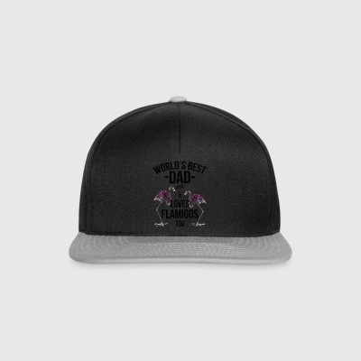 Vader Quotes> World's Best Dad Loves & Flamingos - Snapback cap