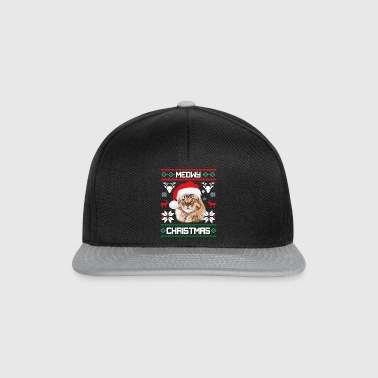 Meowy Christmas Maine Coon Merry Xmas Cat - Snapback Cap