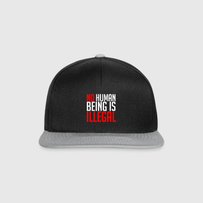 No Human Being Is Illegal - Snapback Cap