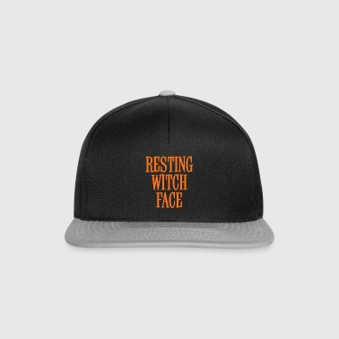 Resting Witch Face Orange - Snapback Cap