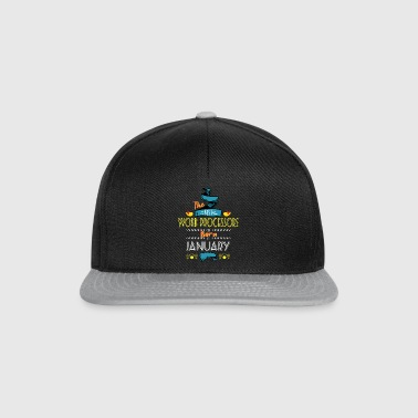 Best Word Processors are Born in January Gift Idea - Snapback Cap