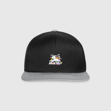 Easter unicorn with eggs - Snapback Cap