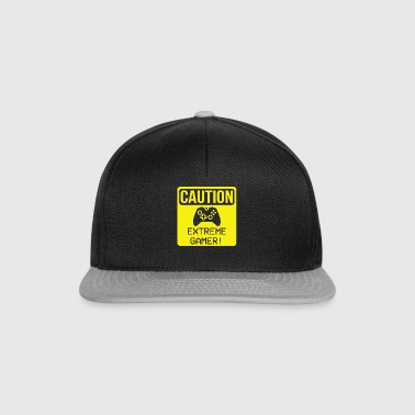 Warning - Extreme Gamer Zocker Video Game Fan - Snapback Cap
