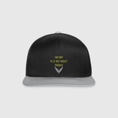 Never Fly without rebuy Transparent - Snapback Cap