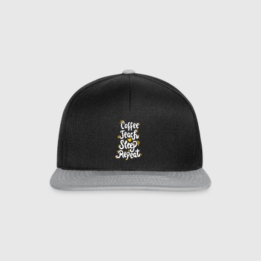 Coffee Teach Sleep Repeat Shirt für Lehrer - Snapback Cap