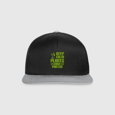 KEEP CALM - PLANTS HAVE PROTEIN - Vegan - Snapback Cap