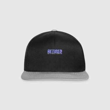 Retirement - Pension - Retired - Pension - Rest - Snapback Cap