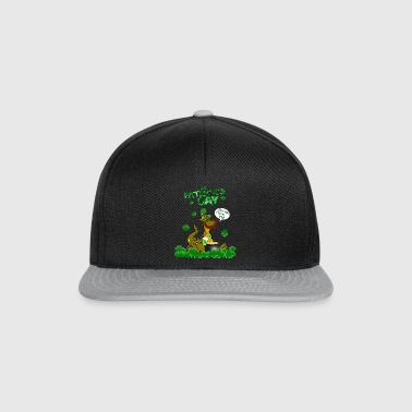 St Patricks Tag witziges Dino Shirt Geschenk - Snapback Cap