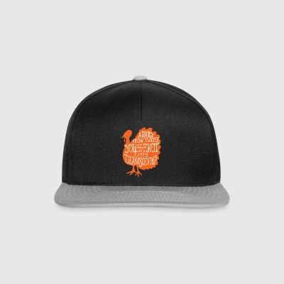 Happy Thanksgiving Gifts.Give Gracias pavo. - Gorra Snapback