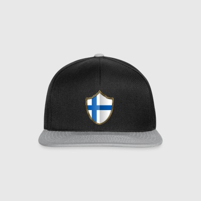 Finland Flag Coat of Arms Gold 016 - Snapback Cap