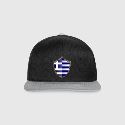Greece Flag Coat of Arms Gold 016 - Snapback Cap