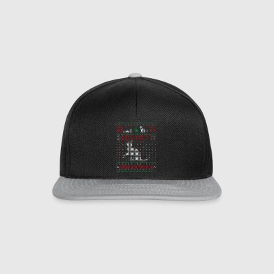 Meowy Ugly Chrismtas Sweater Cat Pun Gift - Snapback Cap