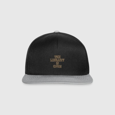 The Library Is Open Wood - Snapback Cap