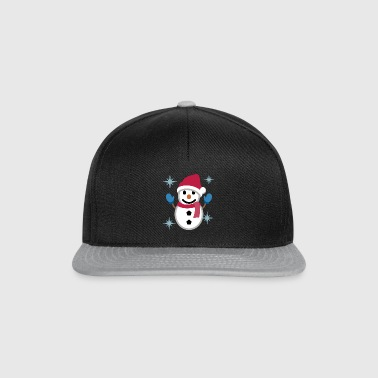 Snowman with Santa hat gift idea - Snapback Cap