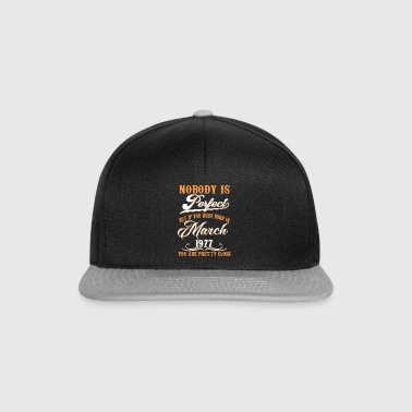 If You Born In March 1977 - Snapback Cap