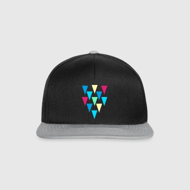 triangles_rain - Snapback Cap