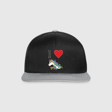 I love cute, colorful, cute unicorns. - Snapback Cap
