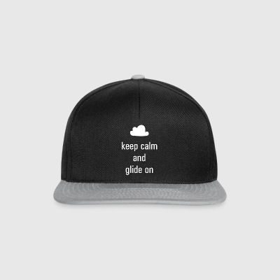 keep calm and glide on - Snapback Cap