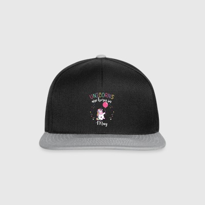 Unicorns are born in May Funny Birthday Gifts.Kids - Snapback Cap