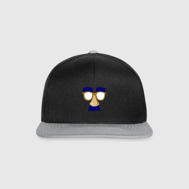 Glasses with mustache - Snapback Cap