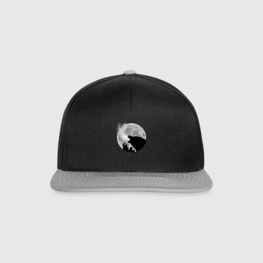 Werewolf in front of moon - Snapback Cap