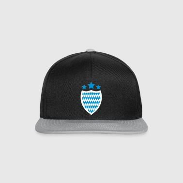 Oktoberfest Coat of Arms Banner Logo Emblem Shield 2c - Snapback Cap