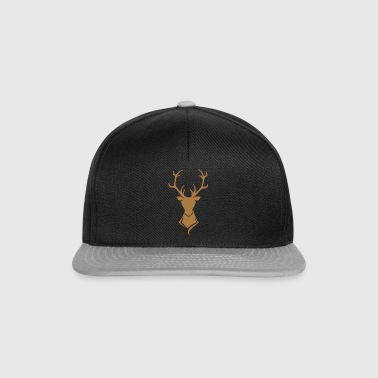 Hirsch Logo Brown / or - Casquette snapback