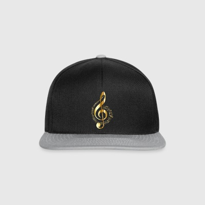 musical note - Snapback Cap