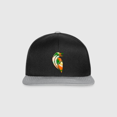 tribal raven tattoo (color) - Snapback Cap